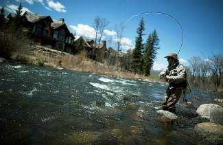 John Collins from Denver gets a bite while fly fishing Thursday on the Eagle River near Miller Ranch. Photo by Dominique Taylor/Dominique Taylor Photography