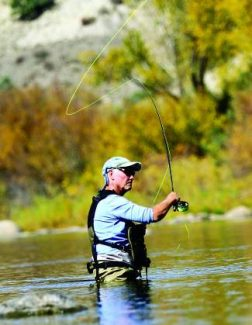 Gary Woodworth fishes in the Eagle River near Wolcott. A fly fishing trip isn't free, but casting clinics are through Gore Creek Fly Fisherman in Vail.