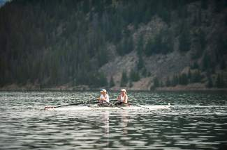 Summit County locals Peggy Bailey and Kelley Amdur compete at the Lake Dillon Challenge rowing regatta in 2014. The two are superstars in the rowing community: Baily won the U.S. National Championship and made the U.S. Olympic team twice when rowing for the University of Wisconsin in the '70s and early '80s, and Amdur rowed in the 1992 Summer Olympics after a storied collegiate career at Georgetown University.