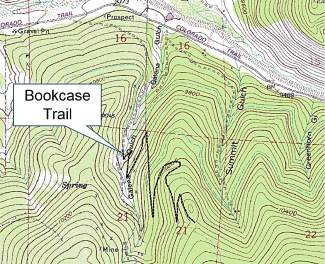 Location of the Bookcase Trail in the Golden Horseshoe system.