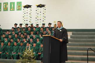 Summit High School Principal Drew Adkins congratulated the graduates on their many achievements.
