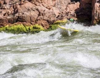 Eagle County local Scotty Stoughton navigates one of the more than 100 rapids which he experienced on a standup paddleboard trip through the Grand Canyon with fellow standup paddleboarder Javier Placer.