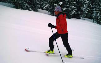 Summit County local Nikki LaRochelle on a training day earlier this season. LaRochelle and her ski mountaineering partner, Eva Hagen, recently finished second for a women's team at the 2016 Elk Mountain Traverse.