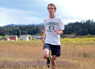 Senior Alex Lehman leads the pack during Tigers cross-country practice near Summit High School before the team's fourth meet of the season, the Eagle Valley Invite at Gypsum Creek Golf Course on Sept. 19.