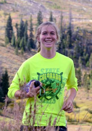 McKenna Ramsay, a senior with the Summit High School cross-country team. Ramsay has helped lead the girl's team to consecutive state championships each of her four years.