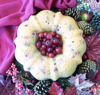 This cranberry bundt cake is perfect for a holiday-time dessert.