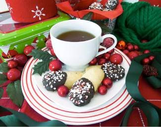 Skip Santa and save these chocolate dipped cookies for your friends and family.