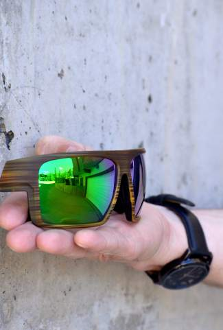 34ea0127e3 The Eldo polarized sunglasses in wood from Native Eyewear. The frames come  standard with interchangeable
