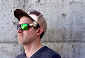 edcfe563672 The Eldo polarized sunglasses in wood from Native Eyewear. The frames come  standard with interchangeable