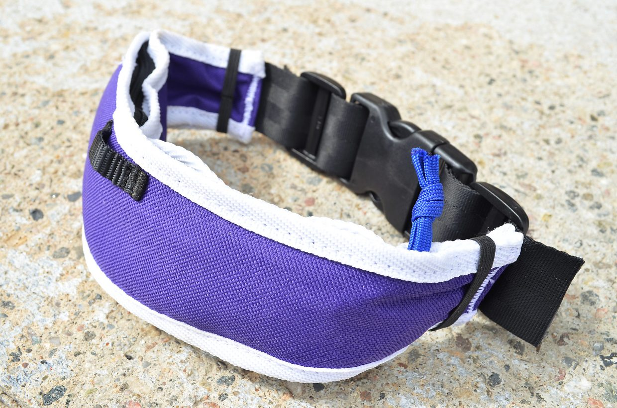 The Grrowler from Rocky Mountain Underground of Breckenridge. The combination dog bowl and dog collar started as a Kickstarter campaign earlier this summer and raised enough money to become part of the ski manufacturer's product line.