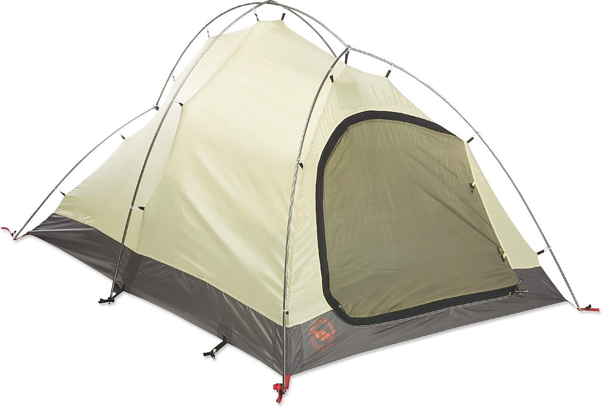The String Ridge 2 tent from Big Agnes with no rainfly.