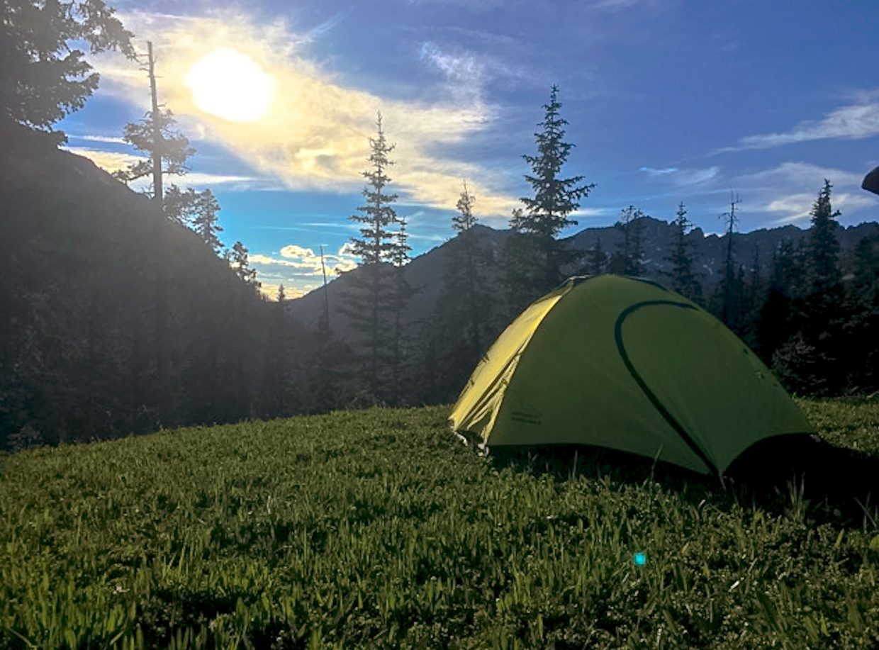 The Peregrine Ramada 2 tent was easy to assemble and took up little room in our packs during a two-day backpacking trip from Frisco to Vail.