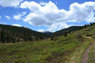 Views of Summit County from Wilder Gulch.