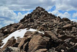 The best pathway to the summit is not always clear on Mount Harvard (14,420 feet) in the Collegiate Peaks Wilderness outside of Buena Vista.