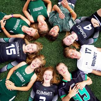 Summit High School seniors (clockwise, starting top right): Ethan Moroco (golf), Lexi Zangari (volleyball), Wil Laidlaw (soccer), Dekota Rhodes (football), Emily Wallace (volleyball), McKenna Ramsay (XC), Autumn Ward (volleyball), Ruthie Boyd (XC) and Alex Mason (XC).
