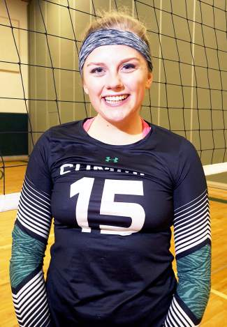Autumn Ward, four-year senior with the Tigers volleyball team.