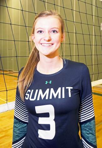 Emily Wallace, four-year senior on the Tigers volleyball team.
