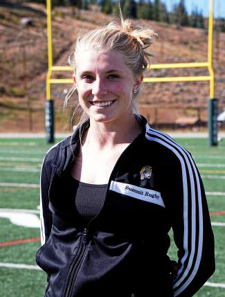 Becca Jane Rosko, senior co-captain of the Tigers girl's rugby team. The senior recently committed to Dartmouth College, her top choice for girl's rugby and academics.
