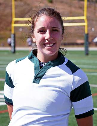 Meg Rose, senior co-captain of the Tigers girl's rugby team. The senior has committed to playing rugby in college like teammates Becca Jane Rosko and Ally Pothier.