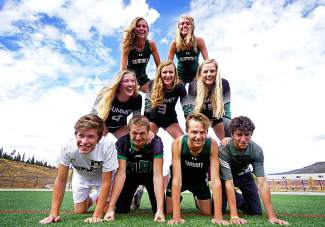 Summit High School seniors (top to bottom, left to right): McKenna Ramsay (XC), Ruthie Boyd (XC), Lexi Zangari (volleyball), Autumn Ward (volleyball), Emily Wallace (volleyball), Wil Laidlaw (soccer), Dekota Rhodes (football), Alex Mason (XC) and Ethan Moroco (golf).