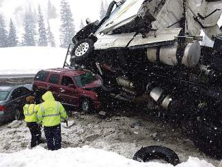 No one was injured in this accident in February that closed westbound Interstate 70 for several hours about 5 miles west of Vail Pass Summit, which is the No. 1 spot for I-70 closures, a PI data analysis showed.