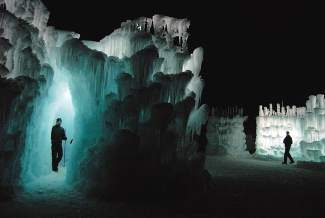 An ice castle took shape on the lawn of the Silverthorne Pavilion in winter 2011. This year, Breckenridge is the proposed site for the attraction.