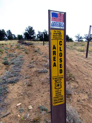 Land Use and Photography Ethics - Markers like this are used to clearly denote areas with restricted access.
