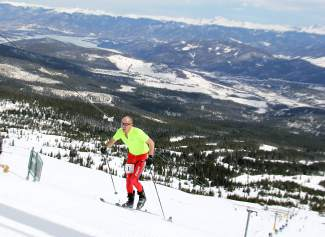 Greg Ruckman of Breckenridge skins to the top of Peak 8 during the 23rd Imperial Challenge in 2014. The storied event (and most likely multi-year champion Ruckman) return this season on April 23, the same as closing weekend.