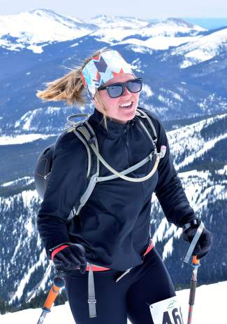 Local Shawna Gogolen on Imperial Ridge during the 2016 Imperial Challenge in Breckenridge on April 22.