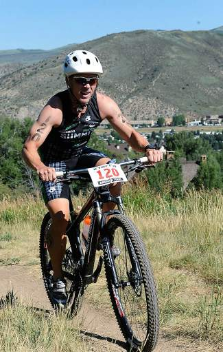 Scott Bierman on the MTB at the Xterra Mountain Championship in Beaver Creek on July 19.
