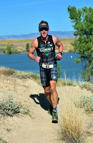 Summit local Scott Bierman at the 2014 Desert's Edge Triathlon in Fruita.
