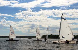 A grouping of sailboats at the Rocky Mountain Junior Olympics regatta on Cherry Creek Reservoir in 2015. The event comes to Lake Dillon this weekend for two days of racing for sailors ages 6 to 18 years old.