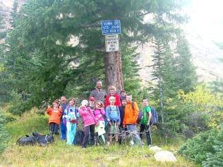 Dan Van Horn leads a hike with an educational mission as part of his work with the Keystone Science School.