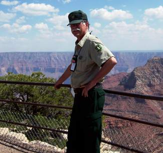 Bill Kight on the rim of the Grand Canyon in 2009.