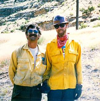 Bill Kight fighting a fire near Grand Junction with Jim Byers.