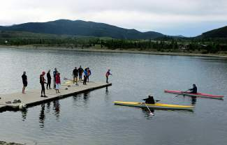 Beginner boats and racing shells are both available at the lake.
