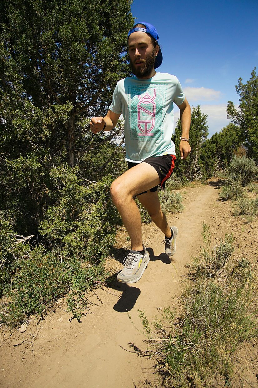 Josh Braun, 19, trains above Eagle in preparation for the Leadville Trail 100 in June.