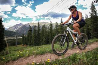 Summit local Austyn Williams on the trail at Copper Mountain. The resort hosts the brand-new Copper Crush mountain bike races on July 30, with divisions for juniors, adults and relay teams of three.