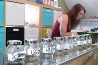 A range of marijuana strains is displayed at Breckenridge Cannabis Club. The Colorado Department of Revenue reported April marijuana sales soared throughout much of the state, but a slowdown in the local tourism season kept Summit County from cashing in on the 4/20 holiday.