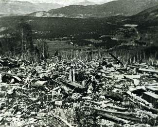 Little remained of Masontown after an avalanche destroyed the all-but-abandoned mining and milling operation.