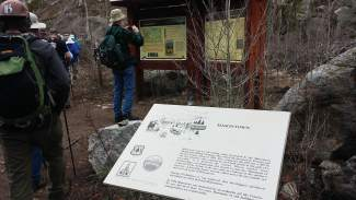 The trailhead for the Masontown hike sits just off the recpath at Tenmile Canyon. It is the same trail used to summit Mt. Royal.
