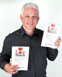 """Author Steve Brass will talk about his book, """"Love Match: 50 Questions to Find Your Mate,"""" at The Next Page bookstore in Frisco today."""
