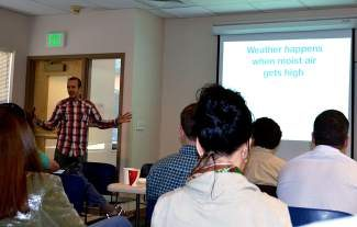 Boulder-based meteorologist and OpenSnow.com creator Joel Gratz shared a few insights into weather watching with the Summit County crowd on  Wednesday morning.