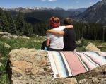 The Watters siblings, Jack, 10, and Mason, 11, enjoy the sights from the top of Copper Mountain.