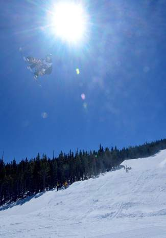 Nicki Weiss at the inaugural Mountain Dew Spring Open on April 2 in Breckenridge.