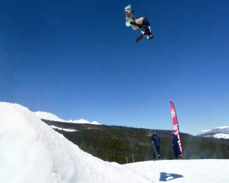 Craig Gouweloos at the inaugural Mountain Dew Spring Open on April 2 in Breckenridge.