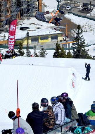 Parker Shell at the inaugural Mountain Dew Spring Open on April 2 in Breckenridge.