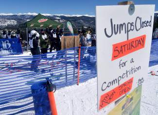 The startline at the innagural Mountain Dew Spring Open on April 2, 2016 in Breckenridge.