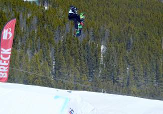 Ian Thorley at the inaugural Mountain Dew Spring Open on April 2 in Breckenridge.
