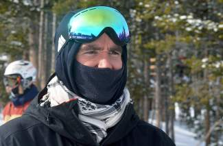 Mike Hanley, the freeski coach with New Zealand national team, watches his athletes practice in the Park Lane terrain park at Breckenridge on Jan. 10. The team uses Summit County as a home base during winter in the northern hemisphere.